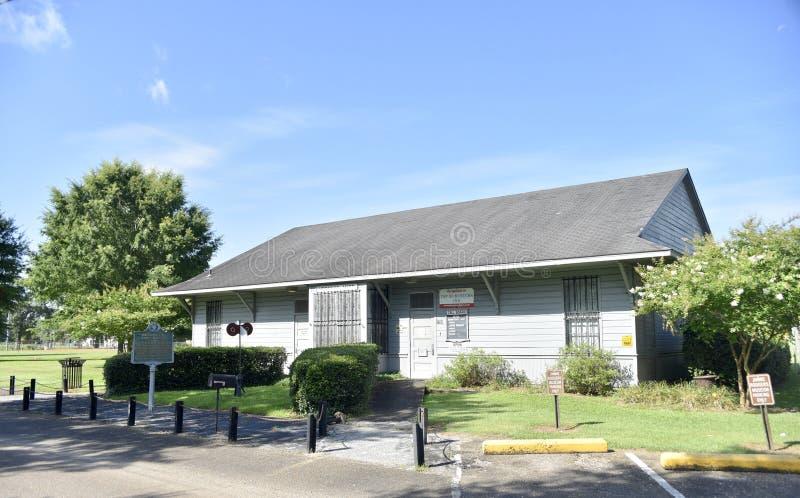 Jimmie Rodgers Museum Highland Park, Meridiaan, de Mississippi stock afbeeldingen