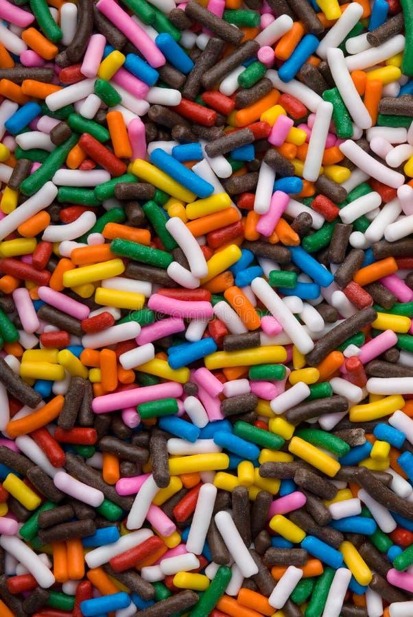 jimmies украшения торта цветастые брызгают стоковая фотография rf