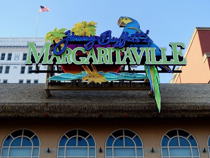 Jimmy Buffett Margaritaville w Atlantyckim mieście obrazy stock