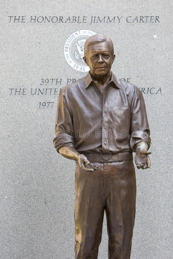 Jimmy Carter Statue royaltyfria foton