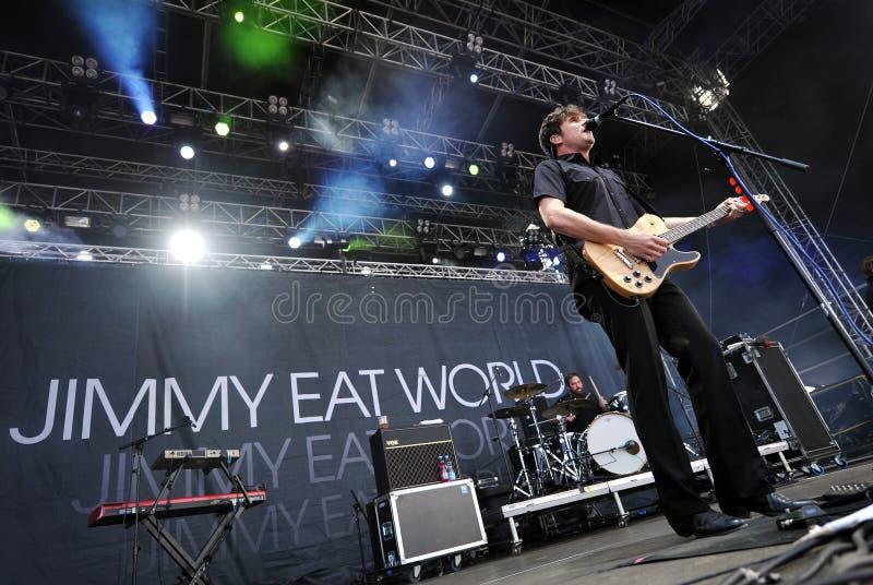 Jimmy come el mundo foto de archivo libre de regalías
