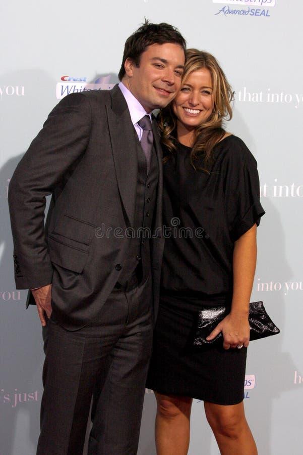 Jimmy Fallon και Νανσύ Juvonen στοκ φωτογραφία με δικαίωμα ελεύθερης χρήσης