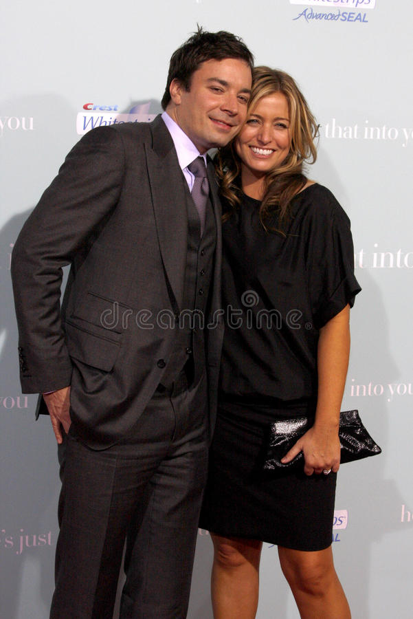 Jimmy Fallon and Nancy Juvonen. At the World Premiere of `He`s Just Not That Into You` held at the Grauman`s Chinese Theater in Hollywood, California, United royalty free stock photography