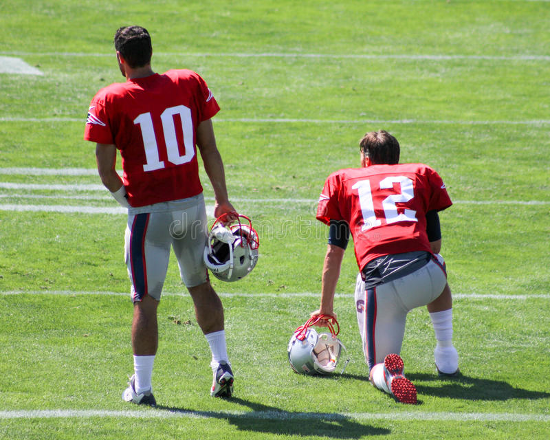 Jimmy Garropolo en Tom Brady royalty-vrije stock afbeelding