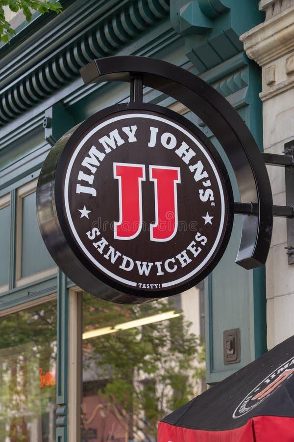 Jimmy Johns Sign foto de stock royalty free