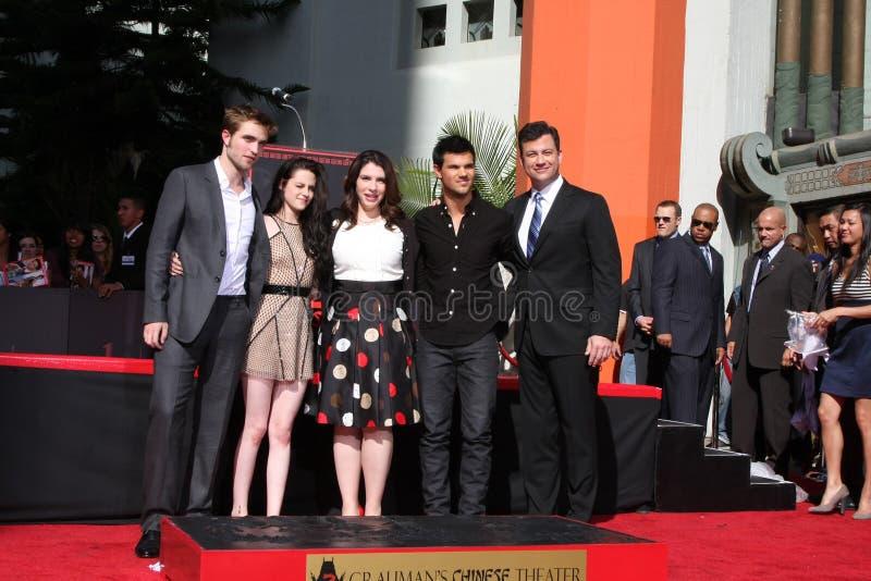 Download Jimmy Kimmel, Kristen Stewart, Robert Pattinson, Taylor Lautner, Stephanie Meyers Editorial Photo - Image: 22765701