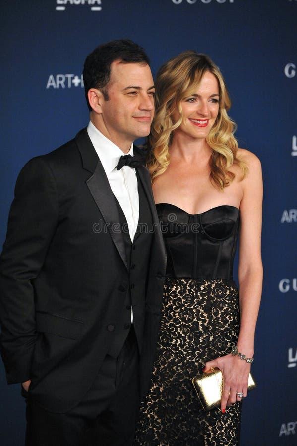Jimmy Kimmel u. Molly McNearney lizenzfreies stockfoto