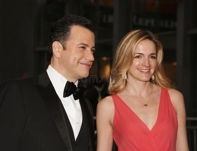 Jimmy Kimmel und Molly McNearney stockfotografie