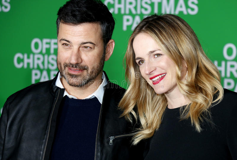 Jimmy Kimmel und Molly McNearney stockfotos