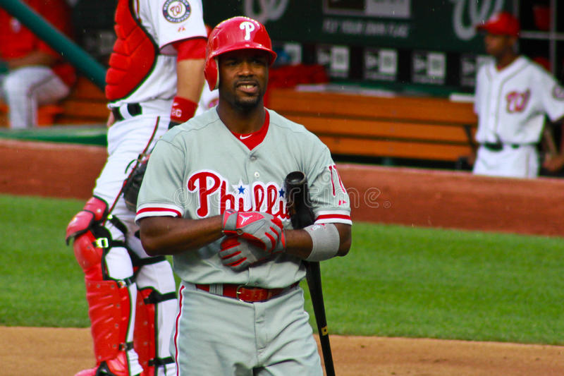 Jimmy Rollins Philadelphie Phillies photographie stock