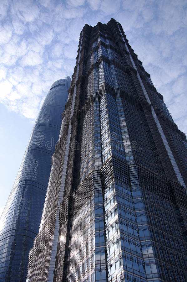 Jin Mao και πύργοι της Σαγκάη στοκ φωτογραφίες