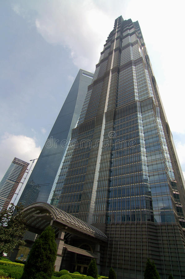 Jin Mao Tower royalty-vrije stock foto's