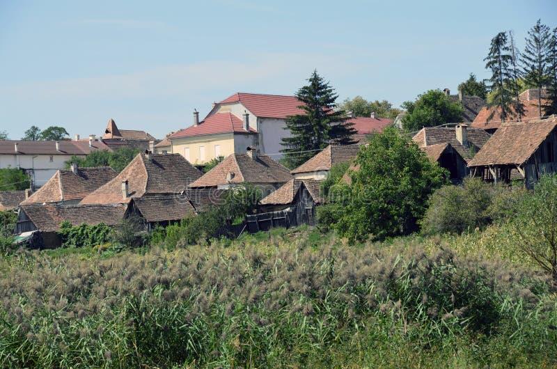 Jina tak av Sibiu arkivbilder