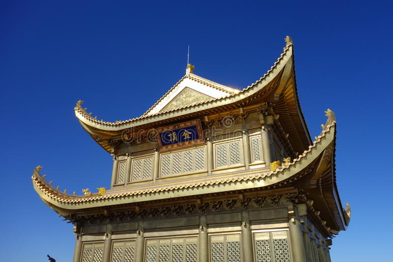 Jinding Tempel von MT Emei lizenzfreie stockfotografie