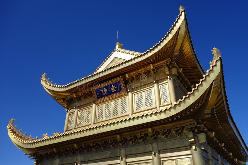 Jinding Tempel von MT Emei stockfotografie