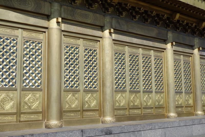 Jinding Tempel von MT Emei lizenzfreie stockbilder