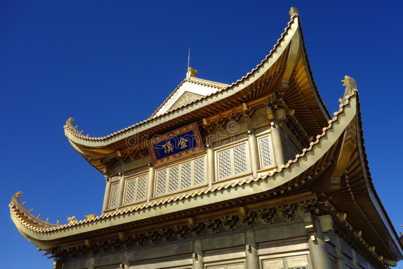 Jinding Tempel von MT Emei lizenzfreies stockbild