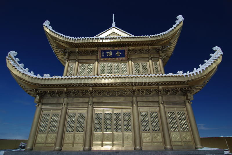 Download Jinding temple of MT.Emei stock photo. Image of temple - 12156784