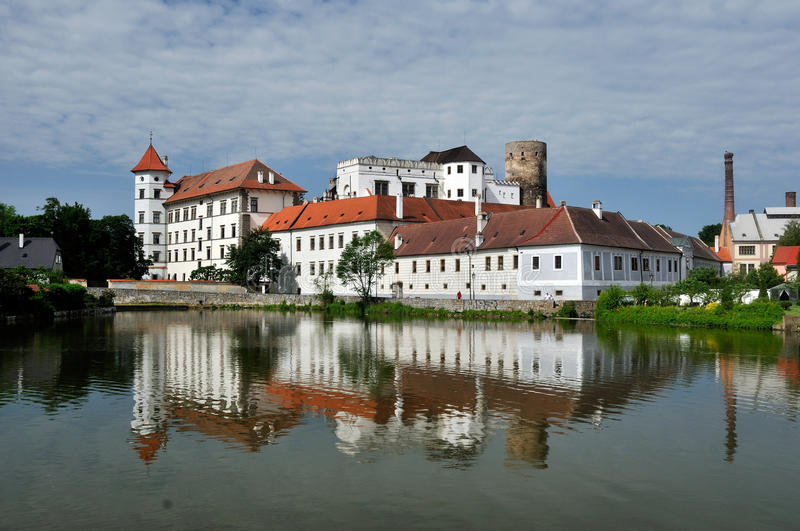 Jindrichuv Hradec Castle. The view on Jindrichuv Hradec castle in Czech Republic stock images