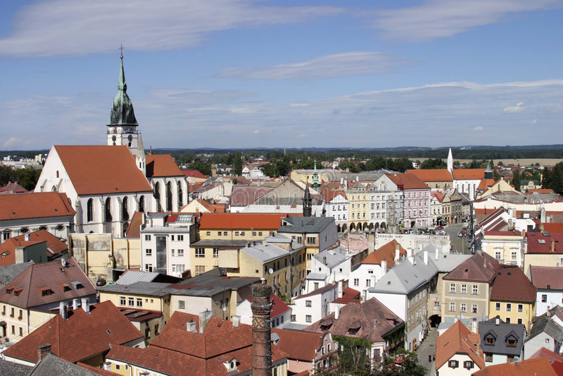 Jindrichuv Hradec, Czech Republic stock images