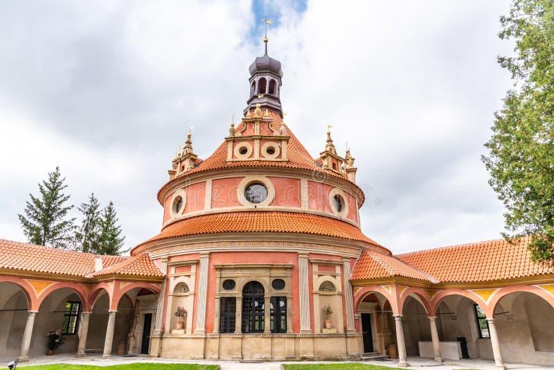 JINDRICHUV HRADEC, CZECH REPUBLIC - 27 JULY, 2019: Rondell Pavilion in Jindrichuv Hradec Castle, Jindrichuv Hradec. Czech Republic royalty free stock images