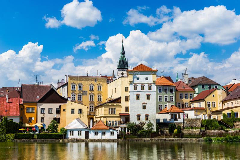 Jindrichuv Hradec in summer day. Czech Republic. stock image