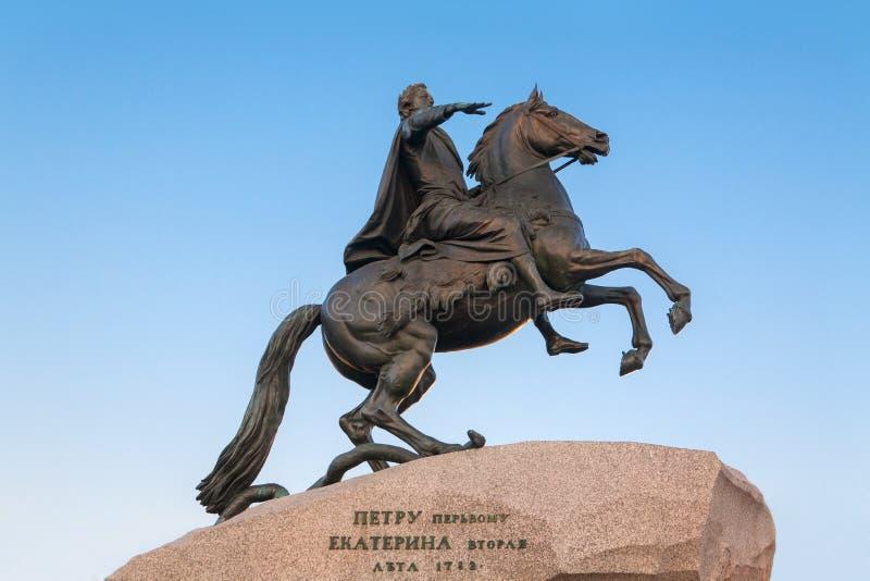Jinete de bronce. Rusia. St Petersburg. imágenes de archivo libres de regalías