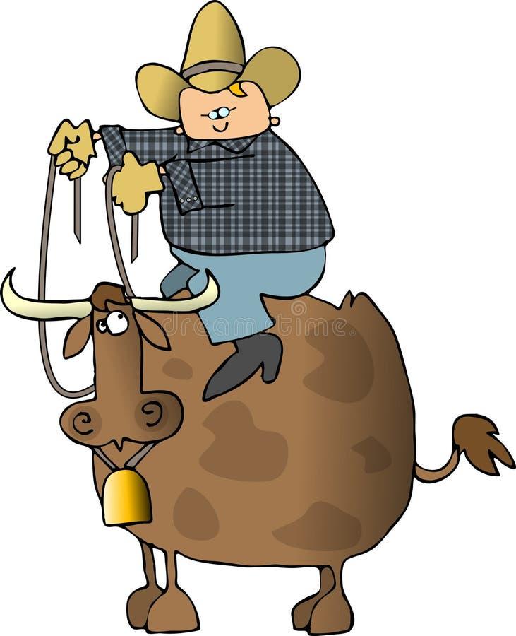 Jinete de Bull ilustración del vector