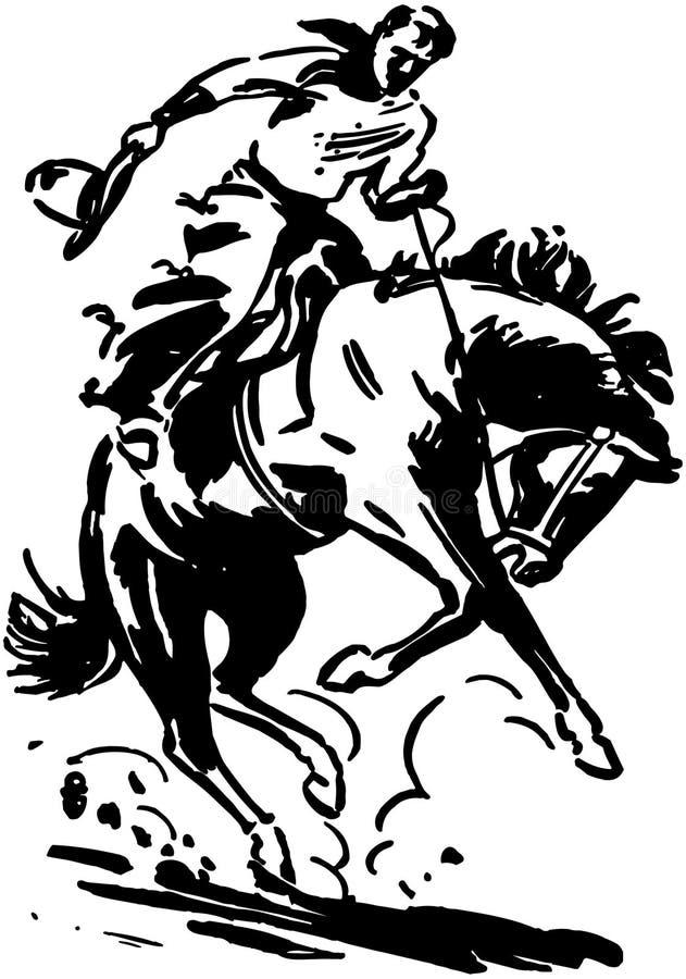 Jinete de rodeo 2 ilustración del vector