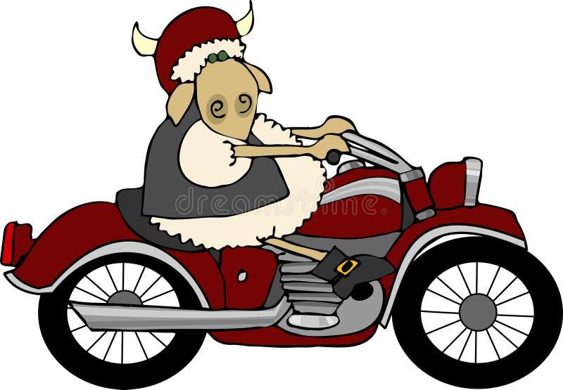 Jinete de Sheepy stock de ilustración
