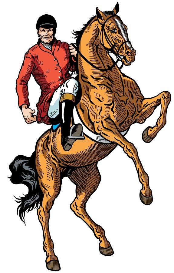 Jinete del caballo stock de ilustración