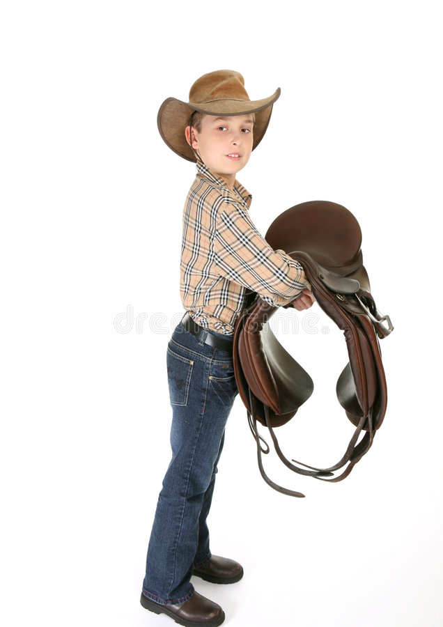 Jinete del caballo con una montura fotografía de archivo libre de regalías