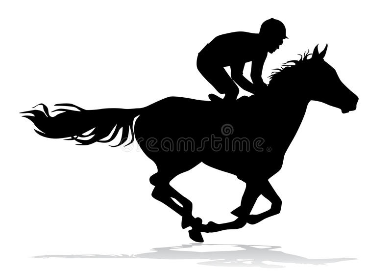 Jinete en caballo libre illustration