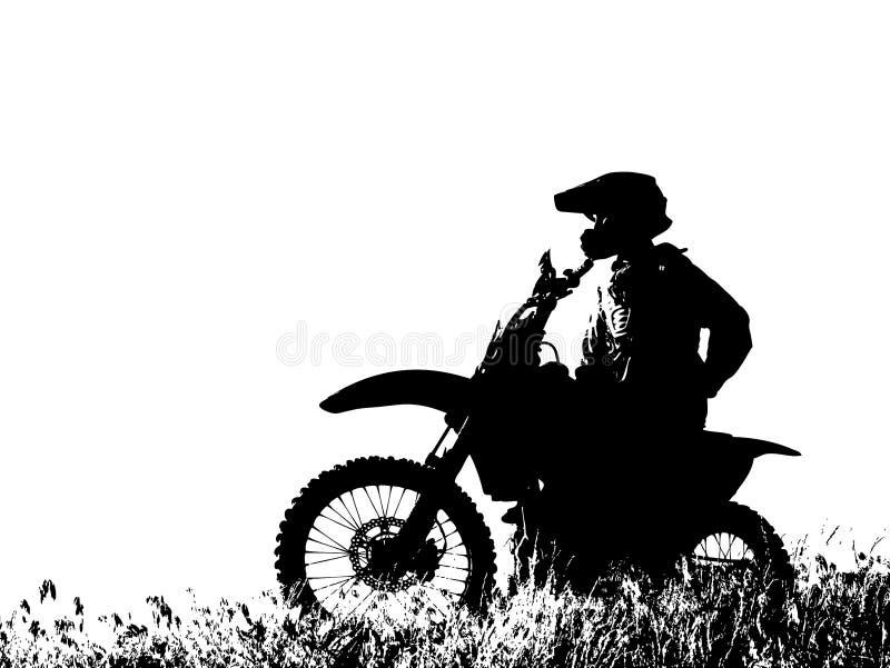 Jinete gráfico de la motocicleta ilustración del vector