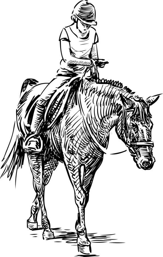 Jinete joven ilustración del vector