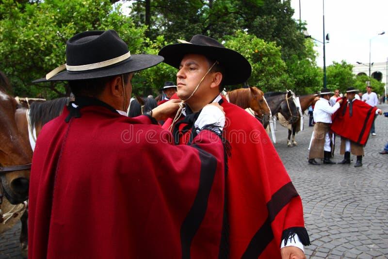 Jinetes De La Argentina En Cabo Rojo Imagen de archivo editorial