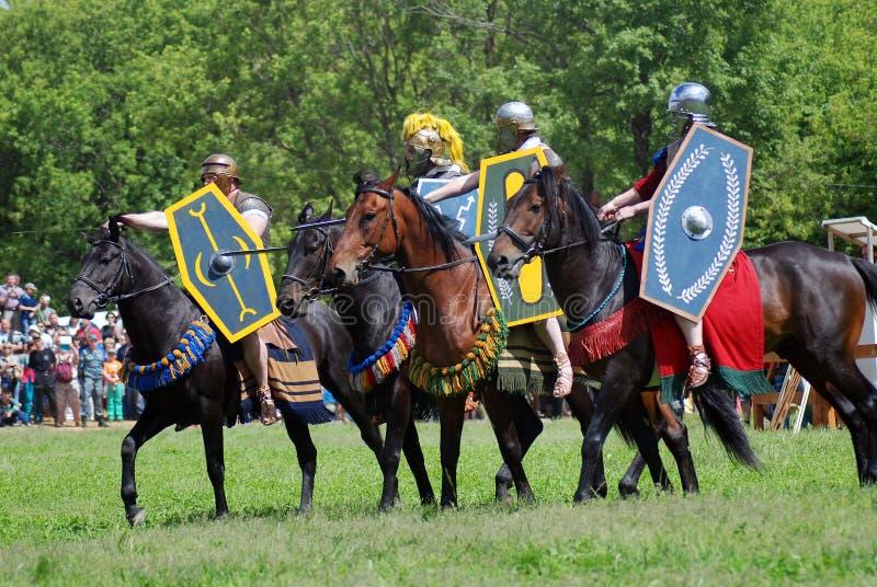 Jinetes del caballo imagenes de archivo