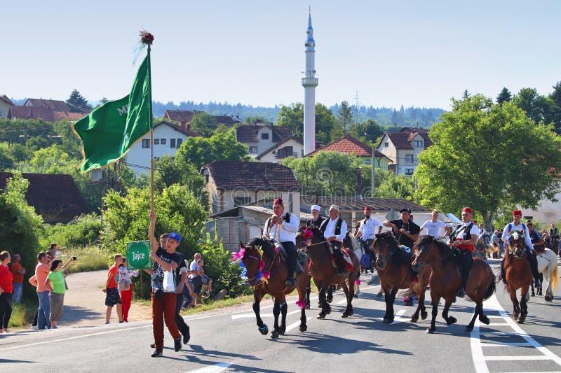Jinetes del caballo de Ajvatovica imagen de archivo libre de regalías