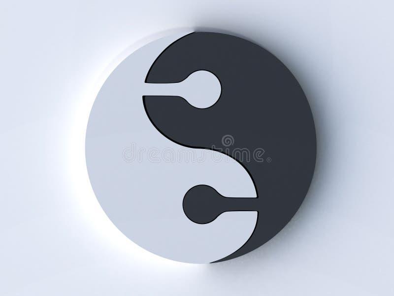 Jing jang lizenzfreie abbildung