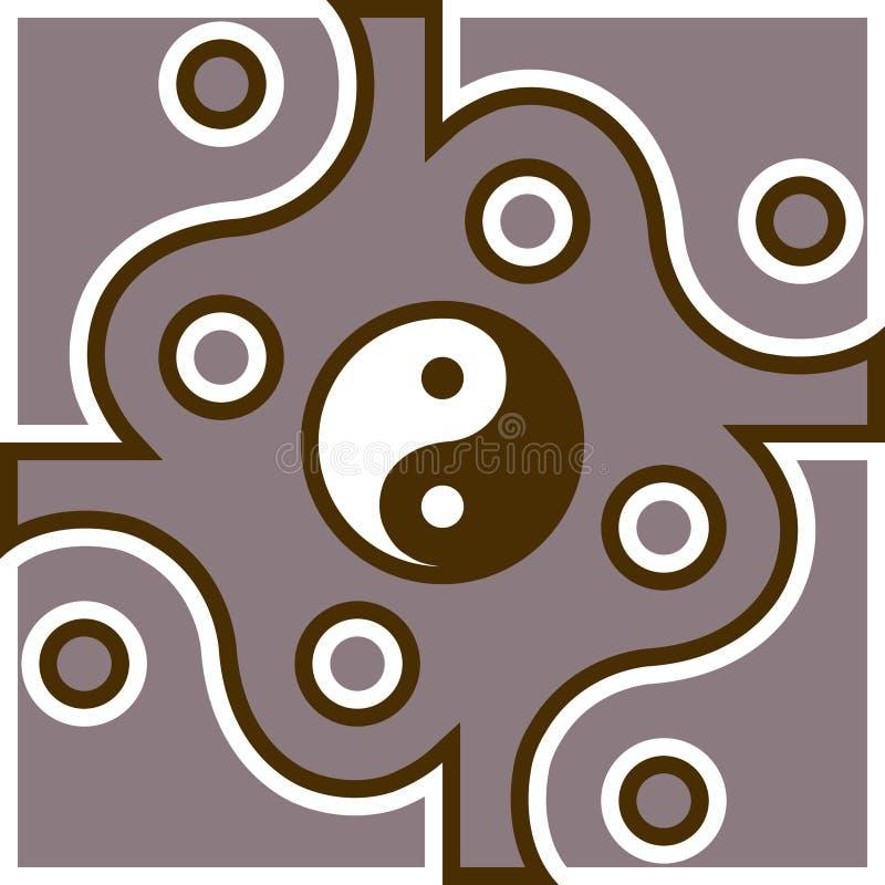 Jing Jang-Symbol stock abbildung