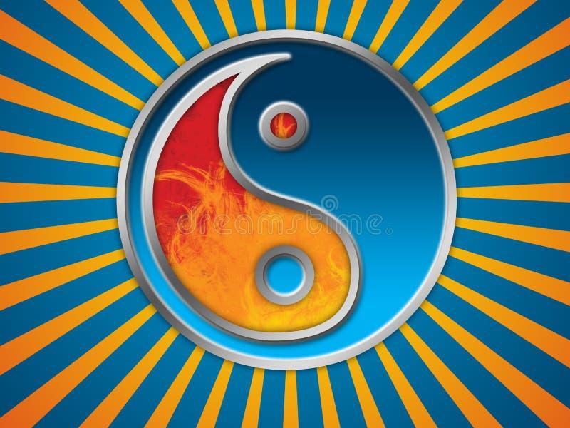 Jing Jang Symbolhintergrund lizenzfreie abbildung