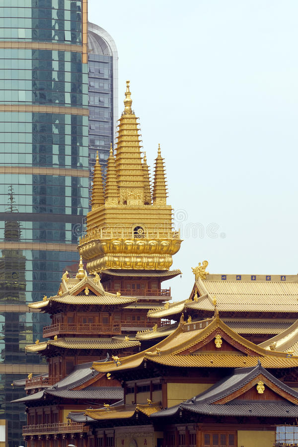Download Jing An Temple stock photo. Image of bell, asian, culture - 30861814