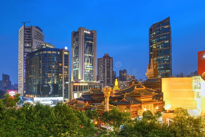 Jing'an Temple, Shangai, China imagen de archivo