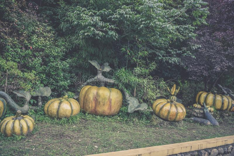Jinggangshan Pumpkin Sculpture. During the period of Jinggangshan Revolutionary Struggle, there was a serious shortage of materials in the base areas. In order royalty free stock photography