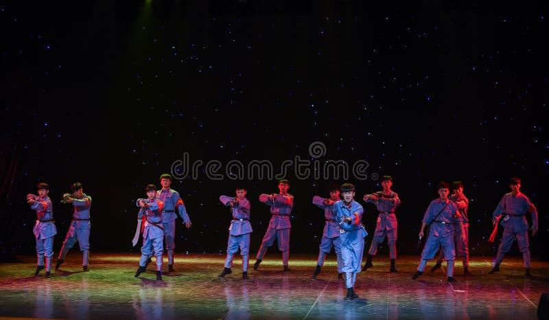Jinggangshan tid-Kina den etniska dansen arkivfoton