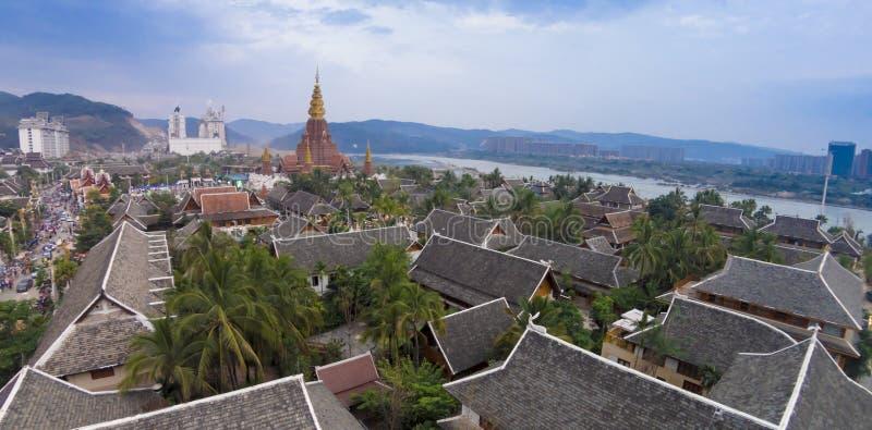 Jinghong Yunnan porcelany krajobraz zdjęcia royalty free