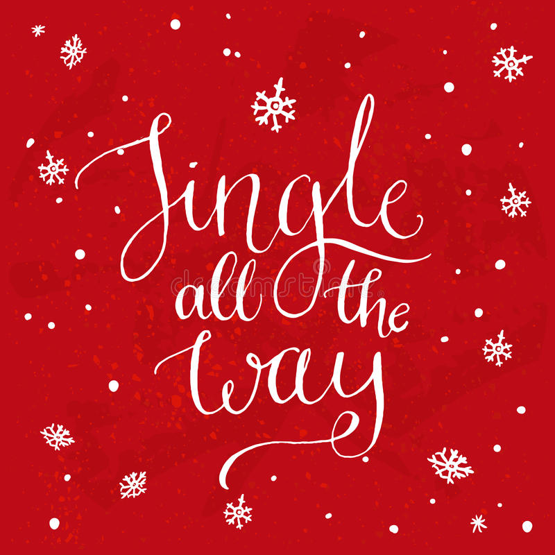 Jingle all the way christmas song inspirational stock vector christmas song inspirational stock vector illustration of quote m4hsunfo Images