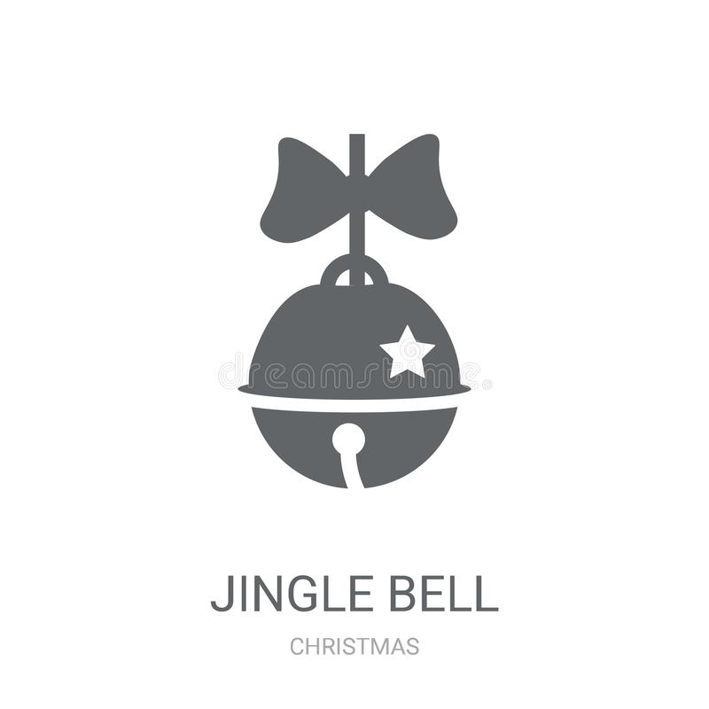 Jingle bell icon. Trendy Jingle bell logo concept on white background from Christmas collection. Suitable for use on web apps, mobile apps and print media stock illustration