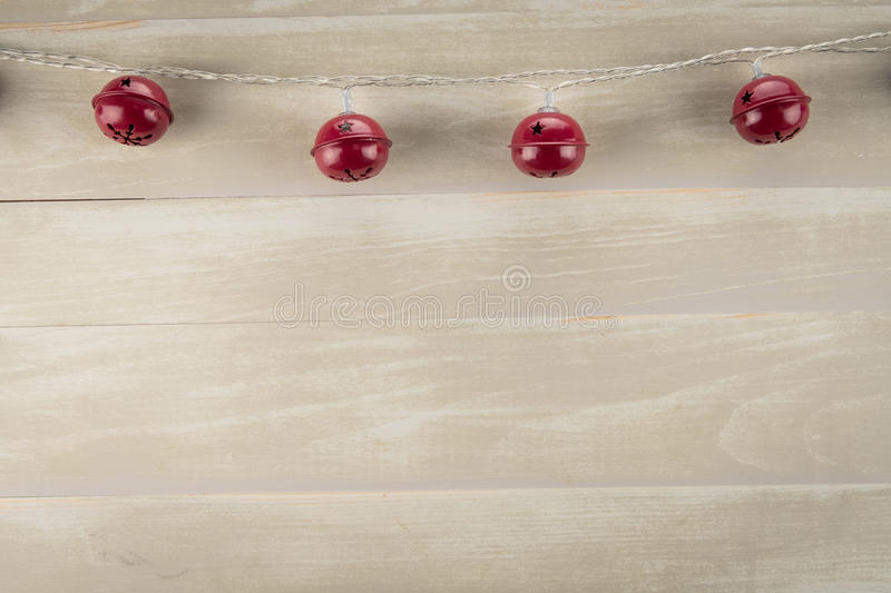 Jingle Bells Against Neutral Background rosso immagini stock