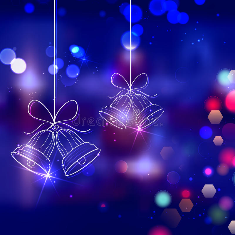 Jingle bells for Christmas decoration stock illustration